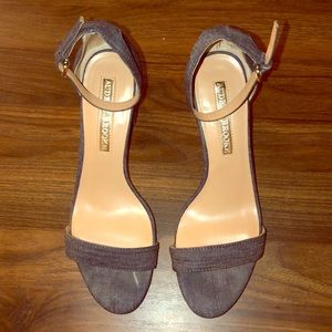 Audrey Brook Denim Ankle Strap Sandal, Size 9
